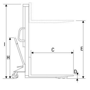 Empilhadeira Hidráulica Manual Lisa Modelo PEHM