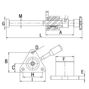 Grampo Fusos Rápido Modelo GP-1FRF12 GP-1FRF16