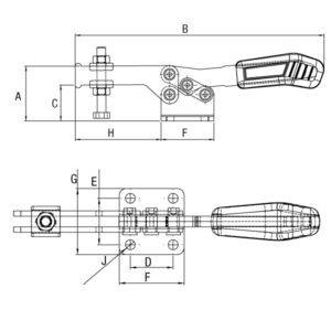 Grampo Horizontal Modelo GP-1115-D 1125-D 1135-D