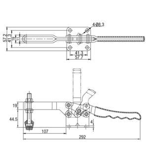Grampo Horizontal Modelo GP-1235-U