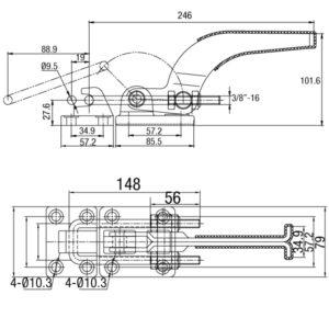 Grampo Tensor Modelo GP-1375