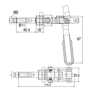 Grampo Torpedo Modelo GP-16004-MM