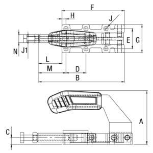 Grampo Torpedo Modelo GP-195040 195050 195060