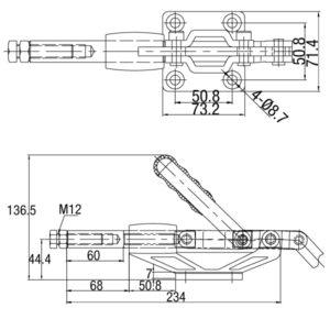Grampo Torpedo Modelo GP-195200