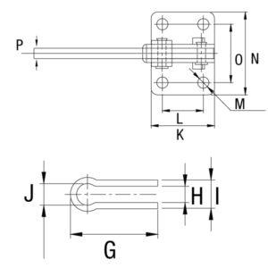 Grampo Vertical GP-1207-LO 1207-SO 1210-S 1247-S