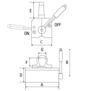Levantador Magnético Modelo LMP