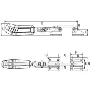 Grampo Tensor Modelo GP-1353-D GP-1354-D