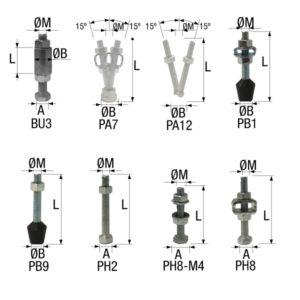 Ponteiras BU3 PA7 PA12 PB1 PB9 PH2 PH8-M4 PH8