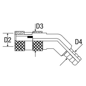 Conector CO/COV 45º