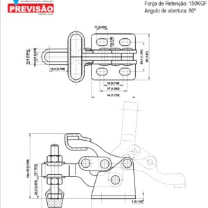 Grampo horizontal (mini) GP-1307-U